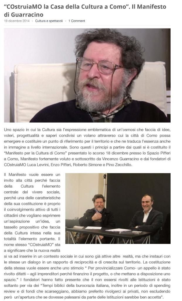 """""""COstruiaMO la Casa della Cultura a Como"""". Il Manifesto di Vincenzo Guarracino_Pagina_1"""